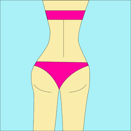 Bikini bottom or thong underwear flat vector icon for fashion apps and websites.