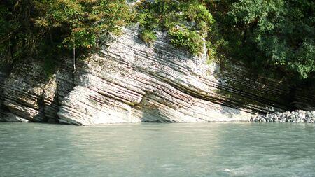 mountain river and rocks. beautiful canyon. copy space Фото со стока