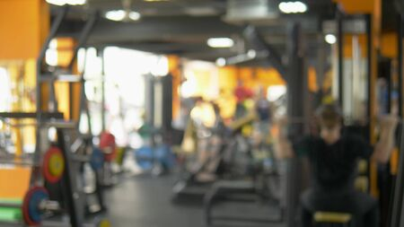 blurred background. people involved in sports in the gym for fitness, interior of new modern equipment, sport concept Stock fotó