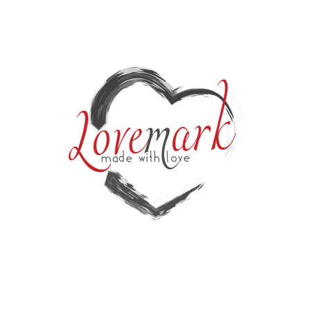 Love mark, love brand concept . Philosophy of brand: service, product and etc.