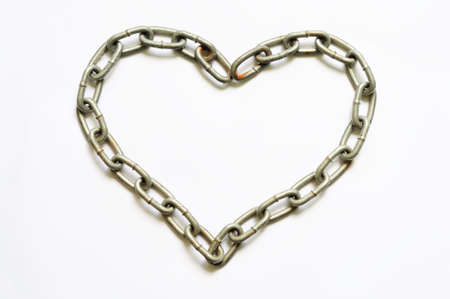 Chain of heart shape Stock Photo - 10097721