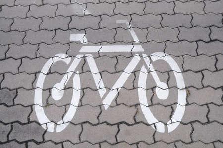 Bike lane on footpath photo