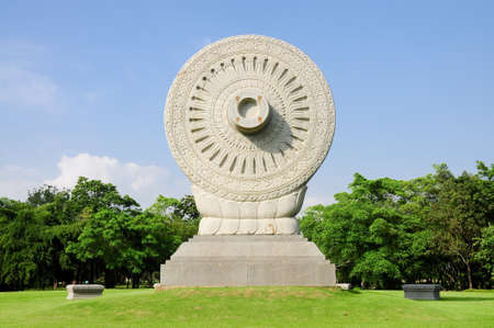 the wheel of the law or dhammacakka photo
