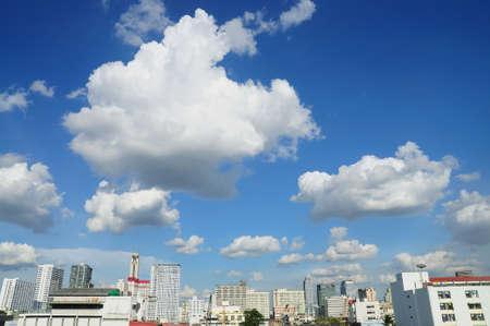 cloudy sky over Bangkok city, Thailand photo