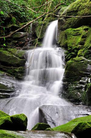waterfall at poo soi dao, national park, thailand