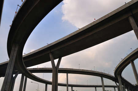 Industrial Ring Road Bridge, Samut Prakarn,Thailand photo