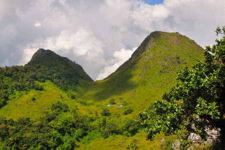 scene of Chiang Dao mountain, Thailand photo