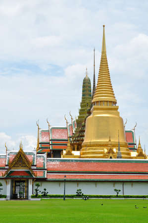 Stupa and church of Emerald Buddha temple in Thailand Stock Photo - 13870177