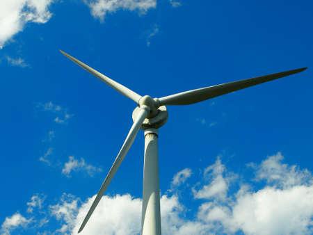 Big windmill in blue sky