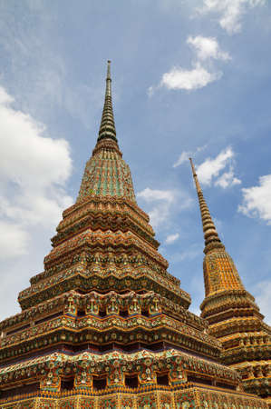 Stupa of Chetupon temple in Thailand Stock Photo