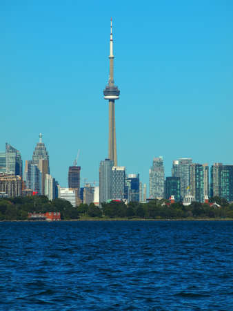 Scene of CN tower and Toronto city, Canada Stock Photo