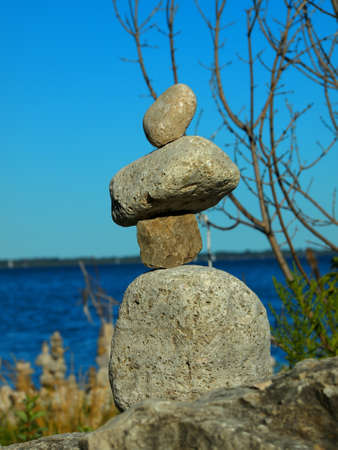Stone arrangement at the sea shore Stock Photo - 15165896