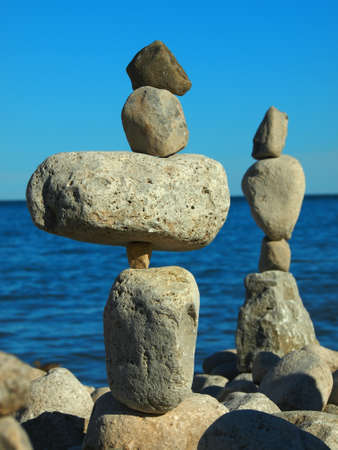 Stone arrangement at the sea shore
