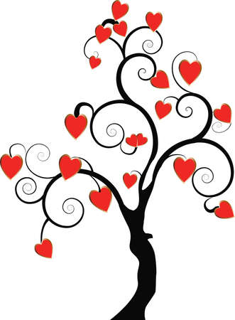 tree with hearts Stock Vector - 7006675