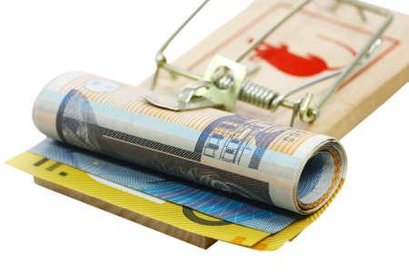mousetrap: dollari australiani catturati in una trappola del mouse