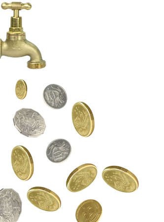 money tap Stock Photo