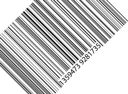 one barcode on white background Stock Vector - 7099499