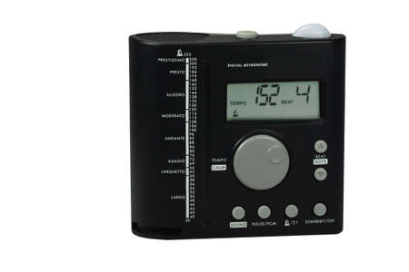 a metronome on a white background photo