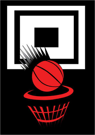 ball point: a basket ball thrown into a net