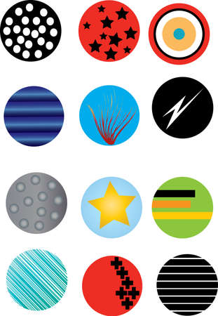 a set of circles on a white background Vector