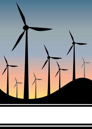 windfarm: Generatore eolico in tarda serata