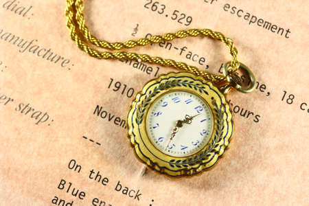 fob: 1910 made fob watch with a chain Stock Photo