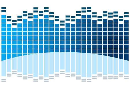 geluidsgolven: geluids golven in blauw met reflectie