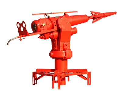whaling: a red  harpoon on a white background
