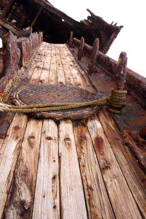 an old ship the meheno shipwreck at Hervey Bay Australia photo
