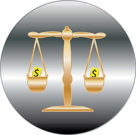 silver circle: oro argento cerchio su sfondo bianco di bilance