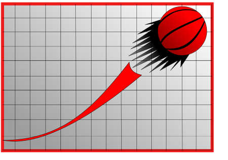 graph  and a red  ball Vector