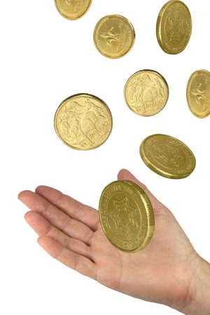 hand catching money photo