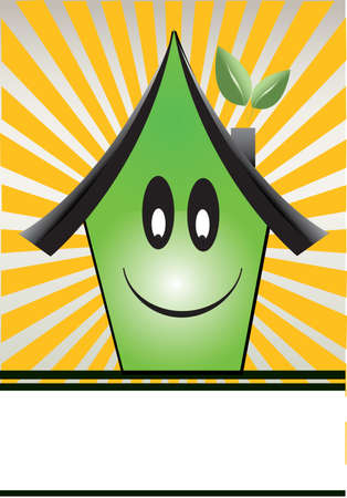 house icon with ray background Vector