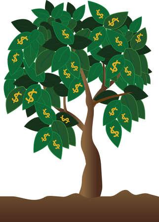 environnement entreprise: argent arbre