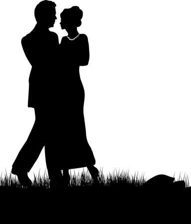 dating and romance: un paio di amorevole su uno sfondo bianco
