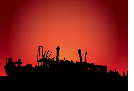 meheno  in the sunset bright orange Vector