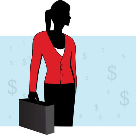 a business women with blue and white background Vector