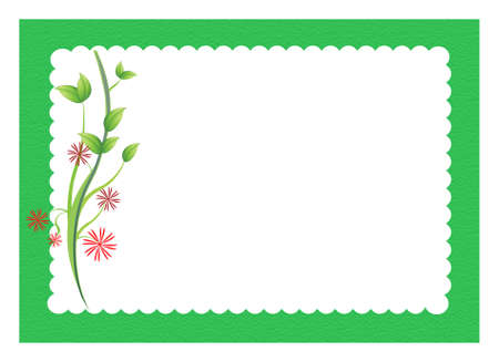boarder: flowers with scalloped border