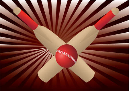 wicket: cricket bats and ball with rays