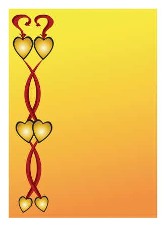 adn: seis corazones con adn de contorno negro arremolinan