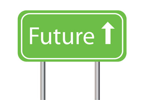 future sign on a white background on posts