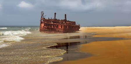 meheno shipwreck on fraser island Australia photo