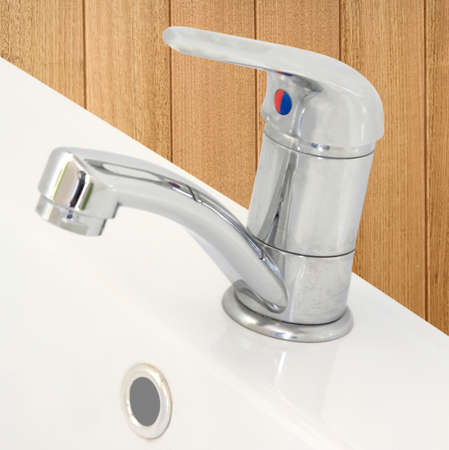 stainless steel tap and hand basin photo
