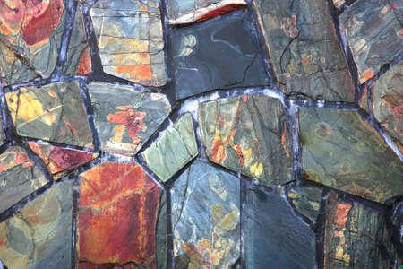 shale: random  stone slate part of a wall