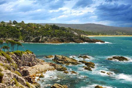 kiama: small town of Kiama beach  in NSW Australia Stock Photo