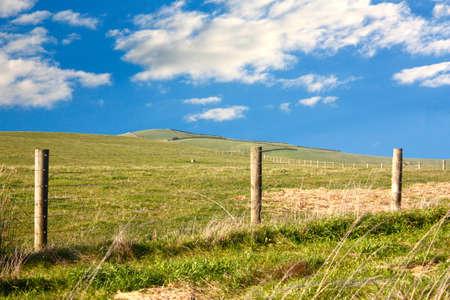 kiama: Kiama country with blue sky and clouds
