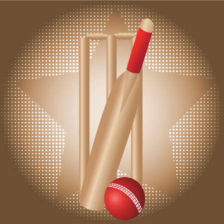 cricket game: cricket set with dot background