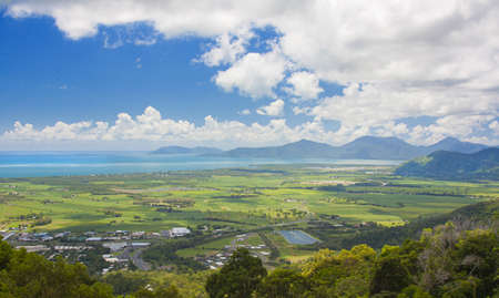 cairns: view of Cairns from the Kuranda lookout
