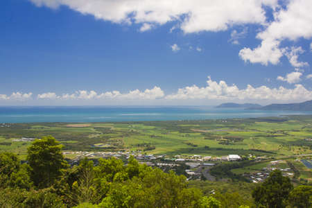 view of Cairns from the Kuranda range photo