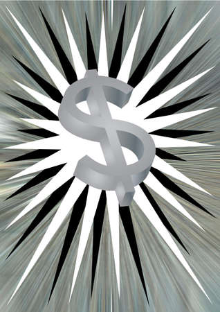star shaped background with a silver dollar sign photo